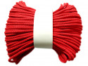 Sznurek bawełniany pełny 5mm czerwony 50m