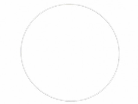 Obręcz metalowa 30cm biała