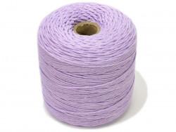 Sznurek bawełniany 2mm skręcany fioletowy jasny 300m