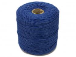 Sznurek bawełniany 2mm skręcany niebieski jeansowy 300m