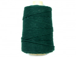 Sznurek bawełniany 5mm skręcany zielony ciemny 100m