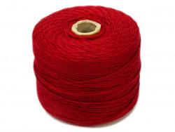 Sznurek bawełniany 2mm skręcany czerwony ciemny 300m
