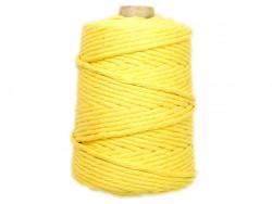 Sznurek bawełniany 5mm skręcany żółty blond 100m