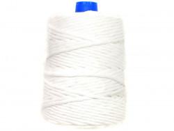 Sznurek bawełniany 5mm skręcany biały 100m