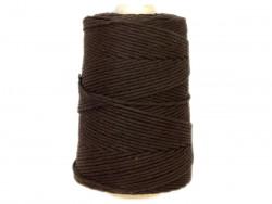 Sznurek bawełniany 3mm brązowy 200m