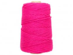 Sznurek bawełniany 3mm różowy amarantowy 200m