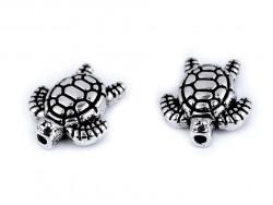 Koralik metalowy żółw morski