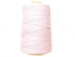 Sznurek bawełniany 3mm różowy blady 200m