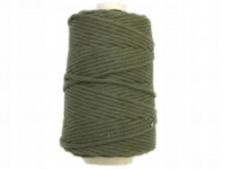 Sznurek bawełniany 5mm skręcany zielony khaki 100m