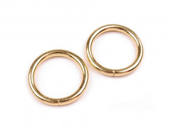 Kółko metalowe 20mm złote
