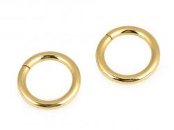 Kółko metalowe 15mm złote grube