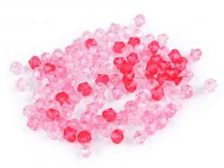 Koraliki diament 6x6mm mix różowy ok. 350szt.