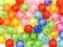 Koraliki kulki w prążek 12mm mix kolorów 50szt