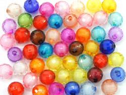 Koraliki kulki kanciaste 12mm mix kolorów 50szt