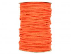 Sznurek bawełniany 3mm pomarańczowy 100m