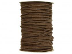 Sznurek bawełniany 3mm brązowy 100m