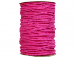 Sznurek bawełniany 3mm różowy amarantowy100m