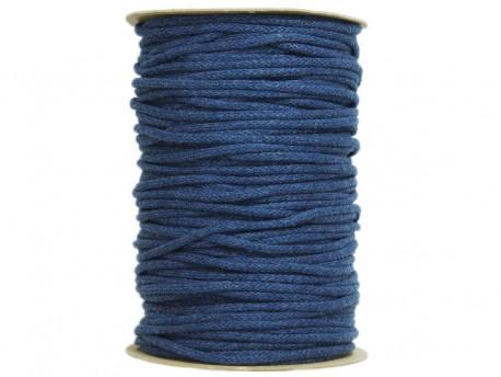 Sznurek bawełniany 3mm niebieski jeansowy 100m