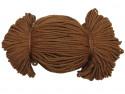 Sznurek poliestrowy 2mm brązowy jasny 100m