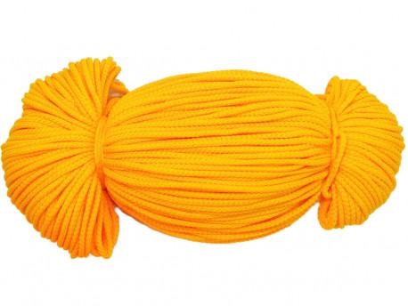 Sznurek poliestrowy 2mm żółty ciemny 100m