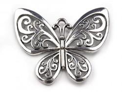 Zawieszka metalowa motyl duży