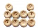 Drewniane guziki - obłe, 20mm